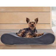 FurHaven Microvelvet Luxe Lounger Orthopedic Dog & Cat Bed, Gray, Small