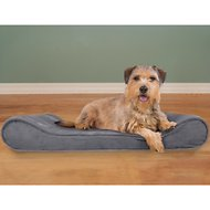 FurHaven Microvelvet Luxe Lounger Orthopedic Dog & Cat Bed, Gray, Large