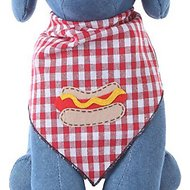 Tail Trends Hot Dog Dog Bandana, Medium
