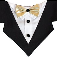 Tail Trends Mr. Darcy Tuxedo Formal Dog Bandana, X-Small