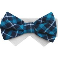 Tail Trends Day of The Week Soft Plaid Dog & Cat Bow Tie Collar Slider, Tuesday, X-Small