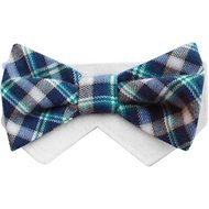 Tail Trends Day of The Week Soft Plaid Dog Bow Tie Collar Slider, Small, Monday