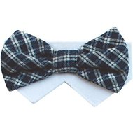 Tail Trends Day of The Week Soft Plaid Dog & Cat Bow Tie Collar Slider, Thursday, Medium