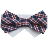 Tail Trends Day of The Week Soft Plaid Dog & Cat Bow Tie Collar Slider, Friday, Large