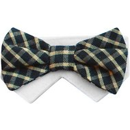 Tail Trends Day of The Week Soft Plaid Dog & Cat Bow Tie Collar Slider, Saturday, Large