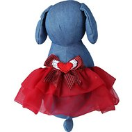 Tail Trends Winged Heart Dog Tutu, Red, Small