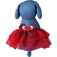 Tail Trends Winged Heart Dog Tutu, Red, Large