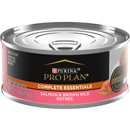 Purina Pro Plan Classic Salmon & Brown Rice Entree in Sauce Canned Cat Food, 5.5-oz, case of 24