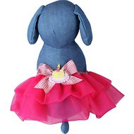 Tail Trends Happy Birthday Dog Tutu, Fuchsia, Large