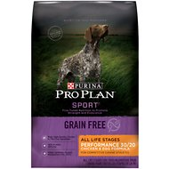 Purina Pro Plan Sport High Protein Performance 30/20 Chicken & Egg Formula Grain-Free Dry Dog Food, 4-lb bag