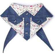 Tail Trends Calico Print Western Dog Bandana, Medium