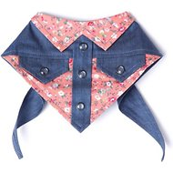 Tail Trends Tail Rider Western Bandana, Coral, Large