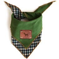 Tail Trends Reversible Dog Bandana, Medium, Green