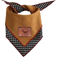 Tail Trends Reversible Dog & Cat Bandana, Tan, Medium