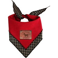 Tail Trends Reversible Dog & Cat Bandana, Red, Large