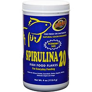 Zoo Med Spirulina 20 Fish Food, 4-oz bottle