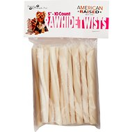 Pure & Simple Pet Rawhide Twist Dog Treat, 5-in, 10 count