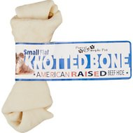 Pure & Simple Pet Flat Knotted Rawhide Bone Dog Treat, Small, 1 count