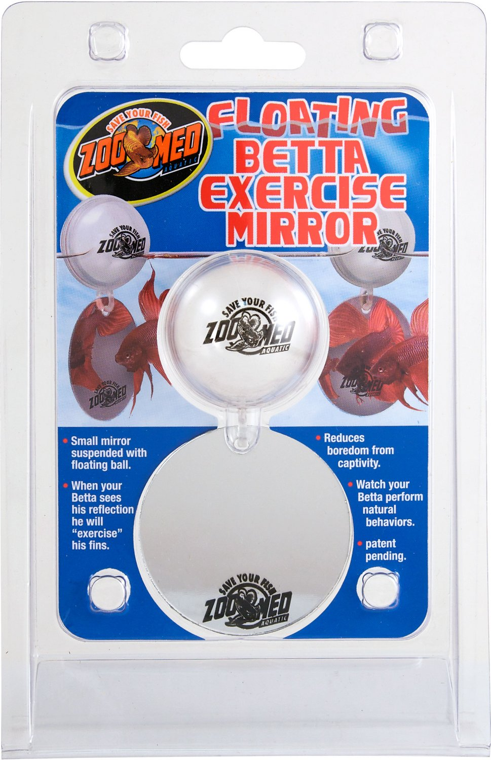 3. Zoo Med Floating Betta Exercise Mirror