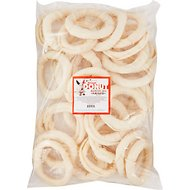 Pure & Simple Pet Rawhide Donut Dog Treat, 5-in, 30 count