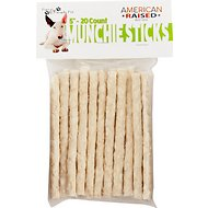 Pure & Simple Pet Rawhide Munchie Sticks Dog Treat, 5-in, 20 count