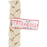 Pure & Simple Pet Braided Rope Dog Treat, Small/Medium