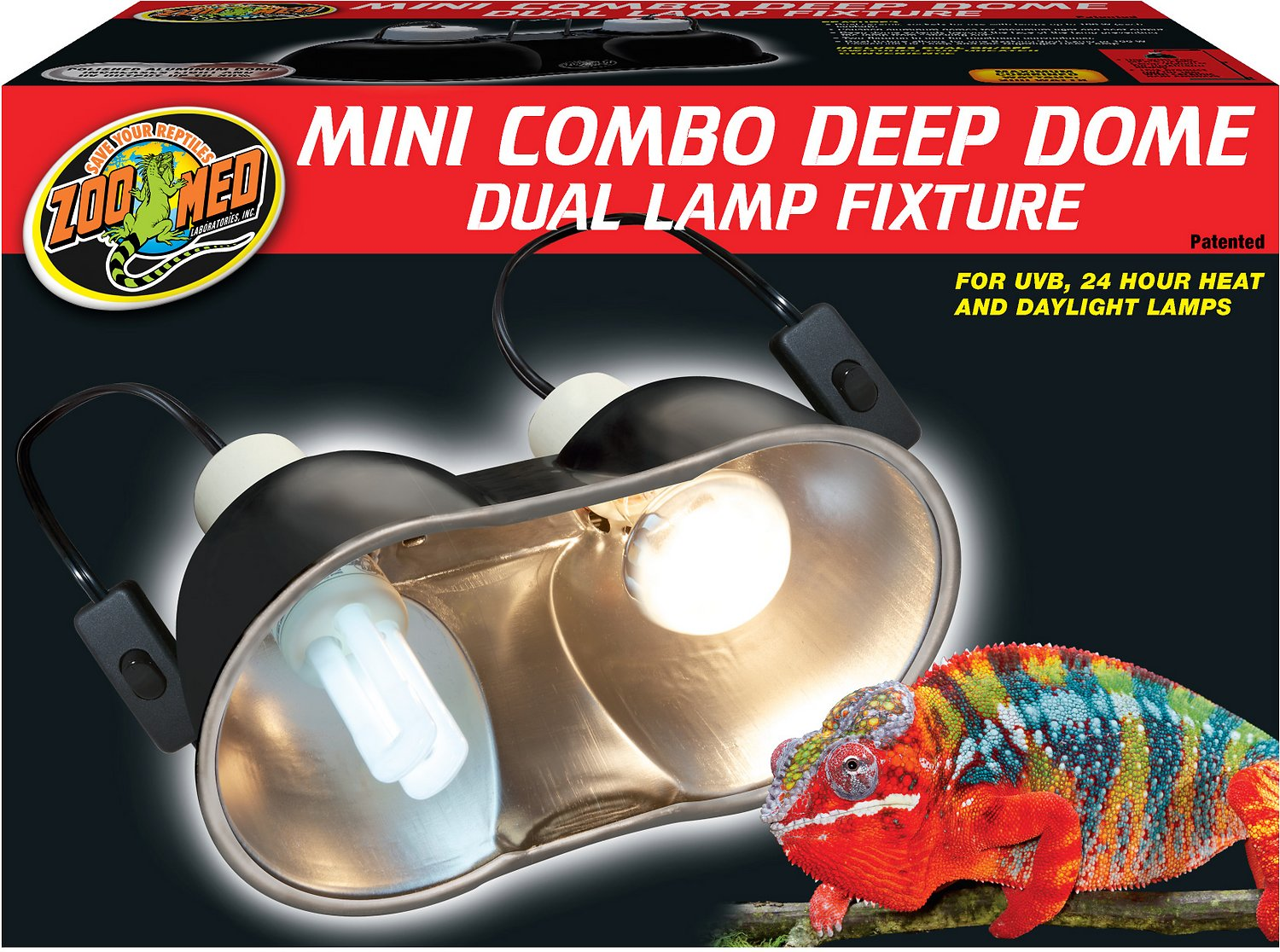 Zoo Med Mini Deep Dome Lamp Fixture - Chewy.com