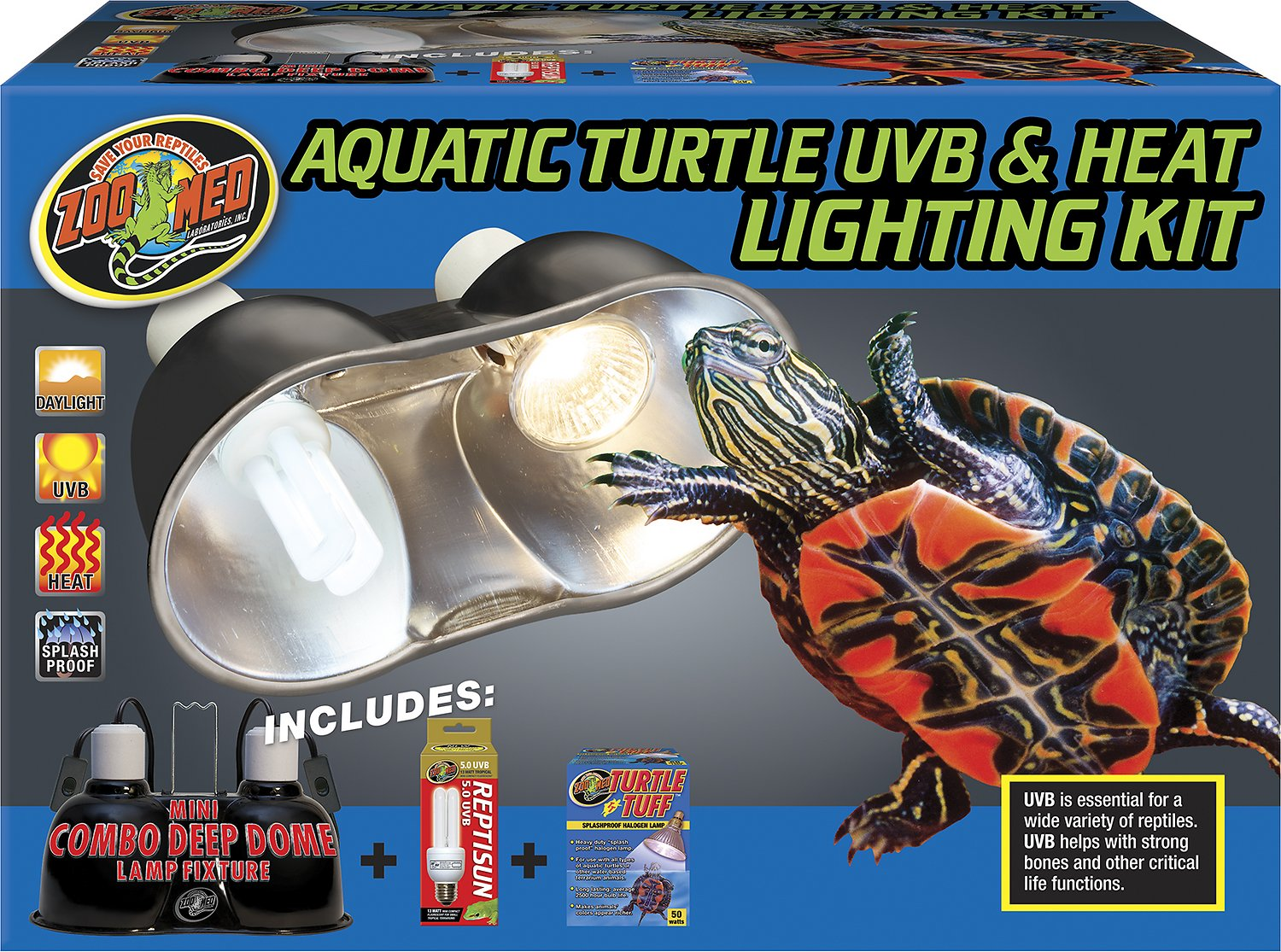 Zoo med aquatic turtle uvb heat lighting kit chewy video arubaitofo Choice Image