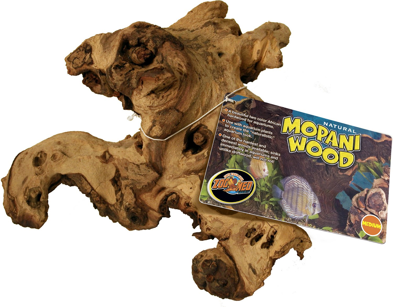 Zoo Med Mopani Wood Medium Chewy Com