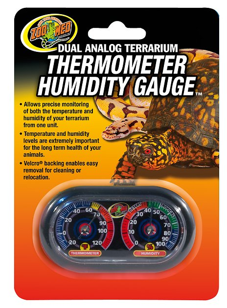 Zoo Med Dual Analog Thermometer and Humidity Gauge