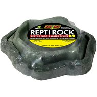 Zoo Med Repti Rock Reptile Rock Food and Water Dishes, Small