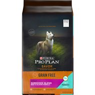 Purina Pro Plan Savor Adult Shredded Blend Beef & Salmon Formula Grain-Free Dog Food, 24-lb bag