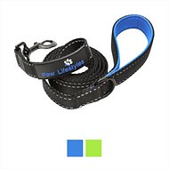 Paw Lifestyles Extra Heavy Duty Dog Leash, Black/Blue, 6-ft