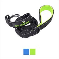 Paw Lifestyles Extra Heavy Duty Dog Leash, Black/Green, 6-ft