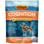 Zuke's Enhance Cognition Peanut Butter Formula Grain-Free Dog Treats, 5-oz bag
