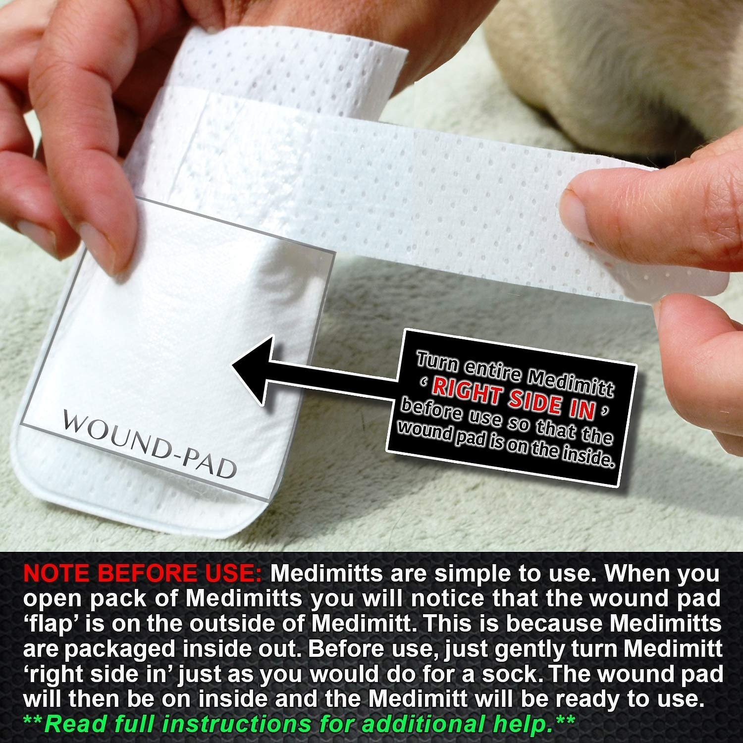 PawFlex MediMitt Disposable Dog Bandage, 4 count, X-Small ...