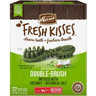 Merrick Fresh Kisses Infused with Coconut Oil & Botanicals Medium Dental Dog Treats, 22 count