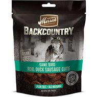 Merrick Backcountry Game Bird Real Duck Sausage Cuts Grain-Free Dog Treats, 5-oz bag