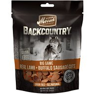 Merrick Backcountry Big Game Real Lamb & Buffalo Sausage Cuts Grain-Free Dog Treats, 5-oz bag