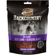 Merrick Backcountry Big Game Real Lamb & Venison Jerky Grain-Free Dog Treats, 4.5-oz bag