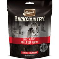 Merrick Backcountry Great Plains Real Beef Jerky Grain-Free Dog Treats, 4.5-oz bag