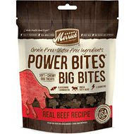 Merrick Power Bites Big Bites Real Beef Recipe Grain-Free Soft & Chewy Dog Treats, 6-oz bag