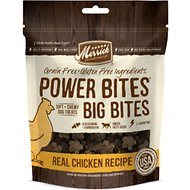 Merrick Power Bites Big Bites Real Chicken Recipe Grain-Free Soft & Chewy Dog Treats, 6-oz bag