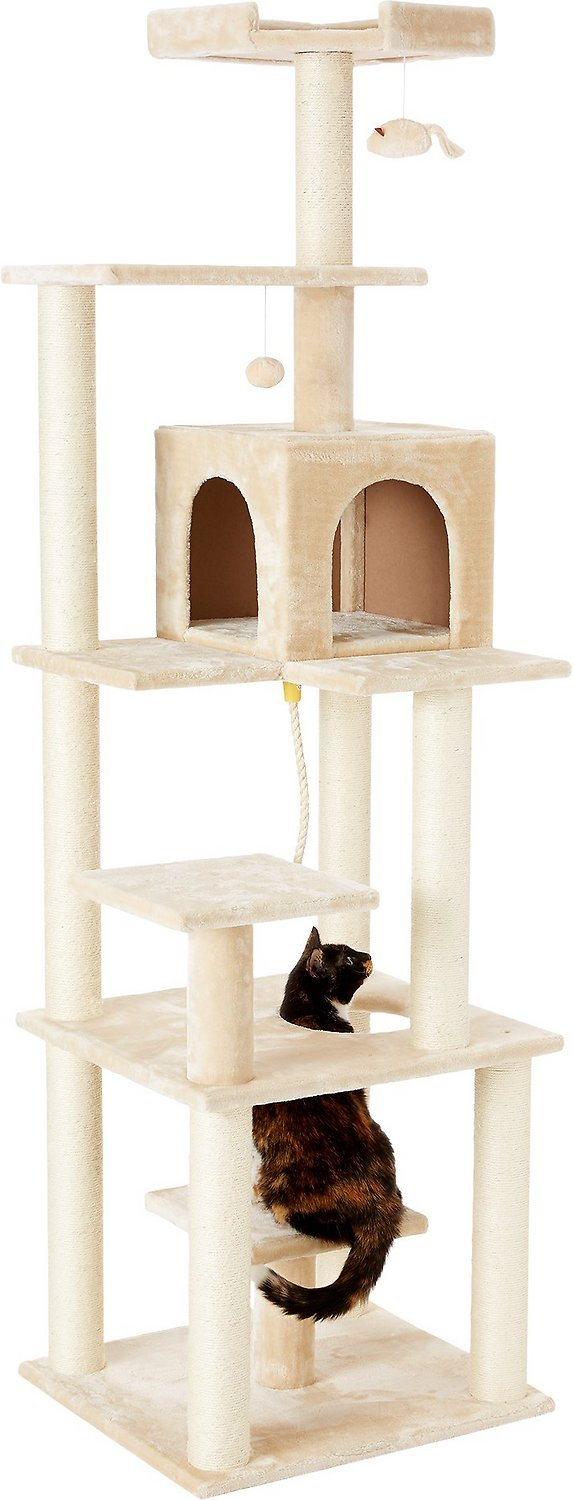 Frisco 78-in Faux Fur Cat Tree & Condo with no cost shipping