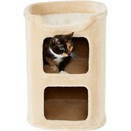 Frisco 24-in 2-Story Faux Fur Cat Condo, Cream
