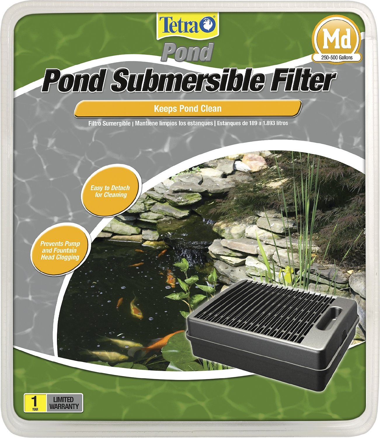 Tetra pond submersible flat box filter for Underwater pond filter