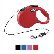 Flexi New Classic Retractable Cord Dog Leash, Red, Small, 16 ft