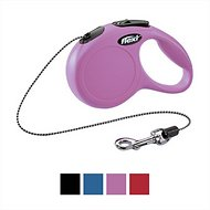 Flexi New Classic Retractable Cord Dog Leash, Pink, Small, 26 ft