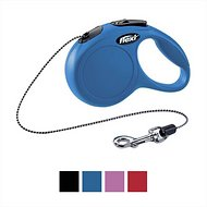 Flexi New Classic Retractable Cord Dog Leash, Blue, Medium, 16 ft