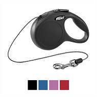 Flexi New Classic Retractable Cord Dog Leash, Black, Small, 16 ft
